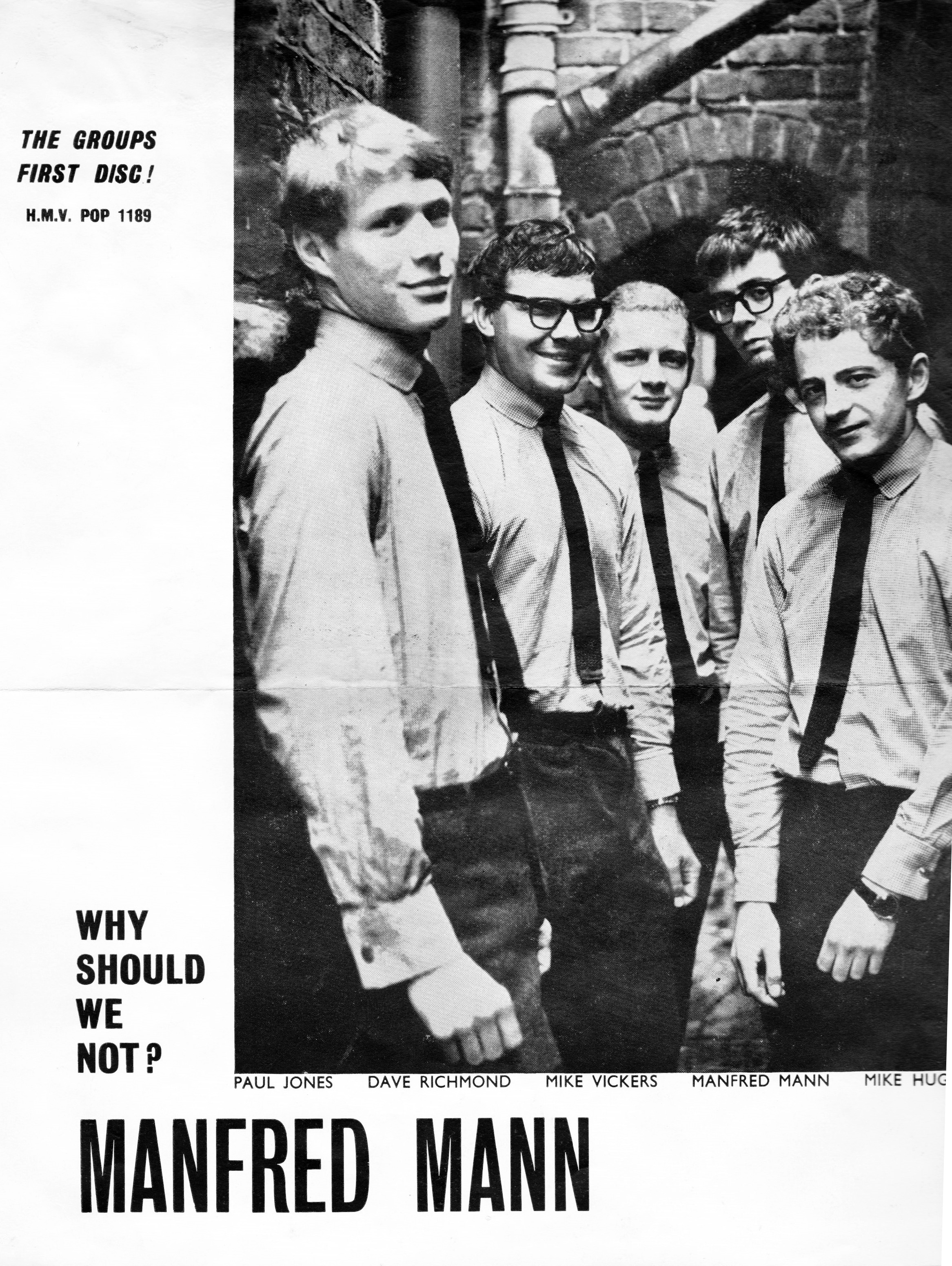 Dave Richmond with Manfred Mann in 1963